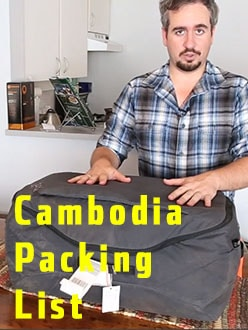 Packing For Cambodia, Hong Kong and Bangkok
