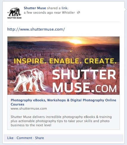 Facebook large images for sharing links