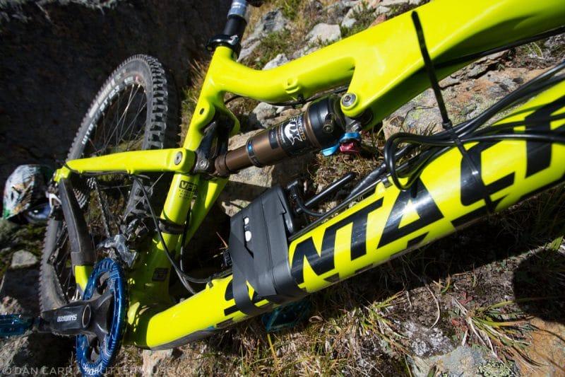 Pocketwizard taped to bike frame