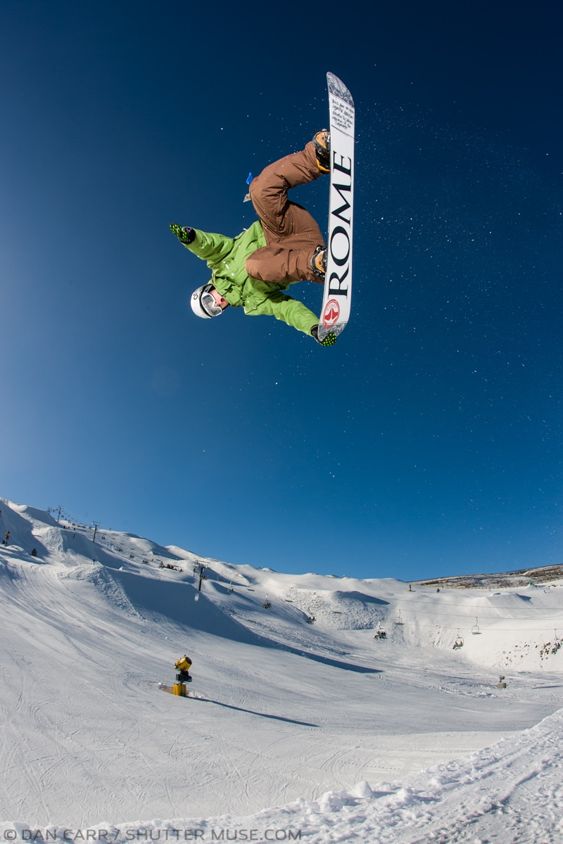 snowboard flash photography