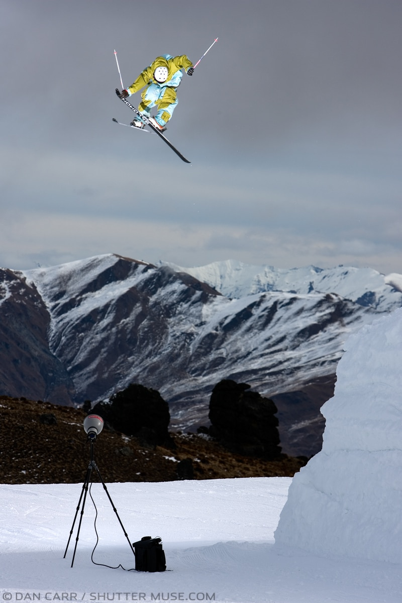 ski photography flash