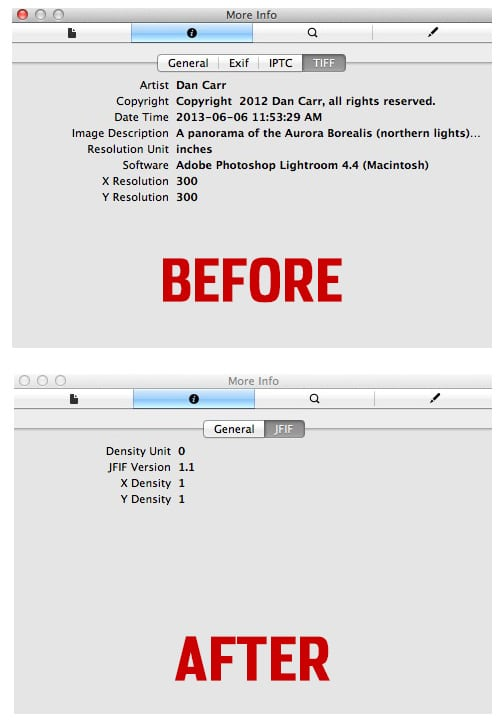 wordpress copyright metadata problem