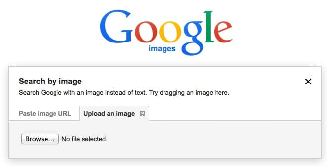 google reverse image loop up copyright metadata