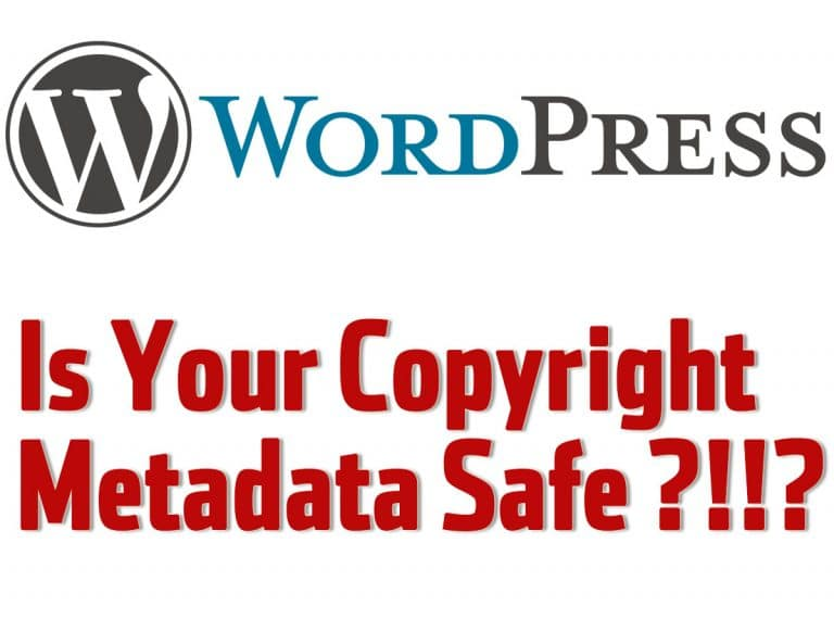 wordpress copyright metadata
