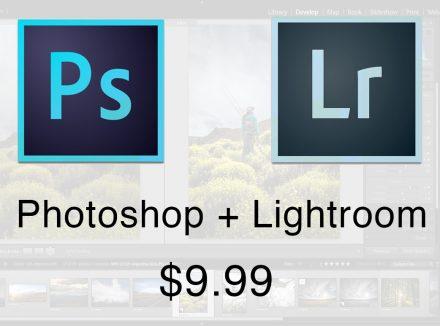 Adobe's $9.99 Photoshop & Lightroom Deal
