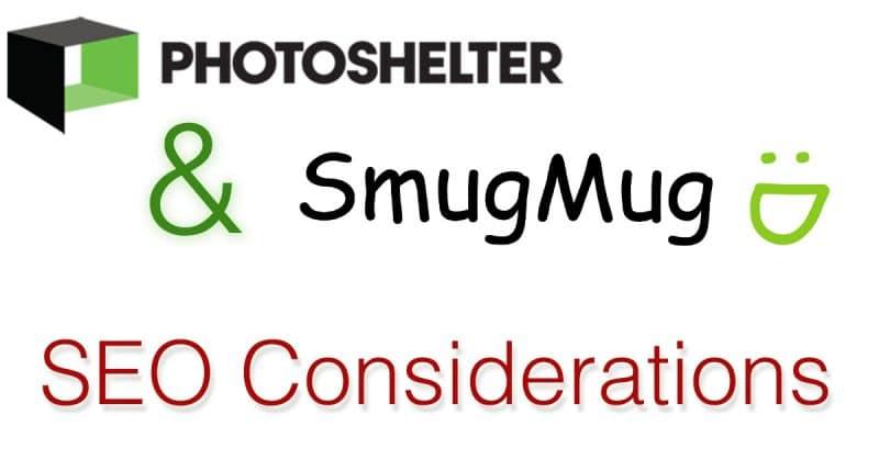 Photoshelter & SmugMug SEO Considerations
