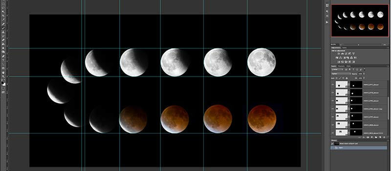 lunar eclipse bllod moon photoshop