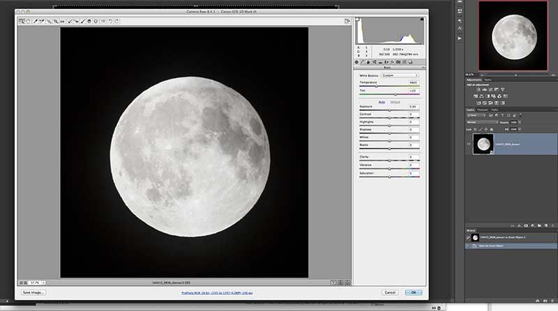 lunar eclipse sequence photoshop
