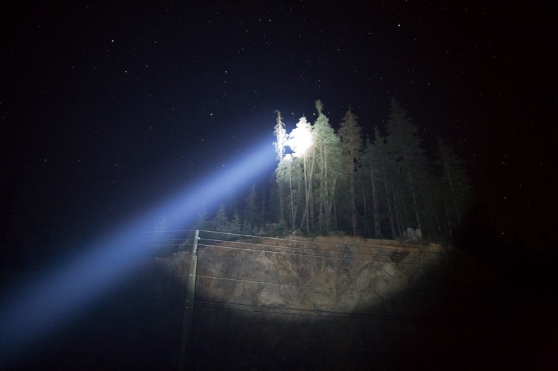 photographing a meteor shower