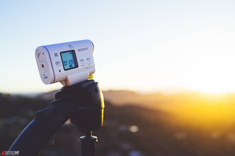 Sony Action Cam AS100V timelapse the sunrise over LA. Shot on Sony RX1R