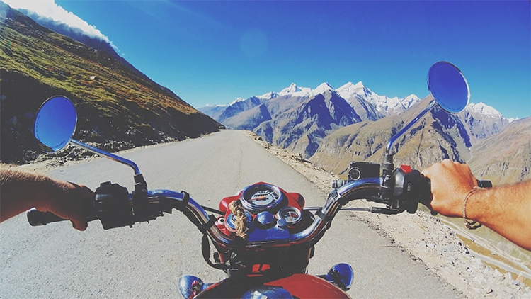 Dirving the Rhotang Pass, India. Shot on the Sony Action Cam