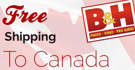 B&H Now Offer Free Shipping To Canada