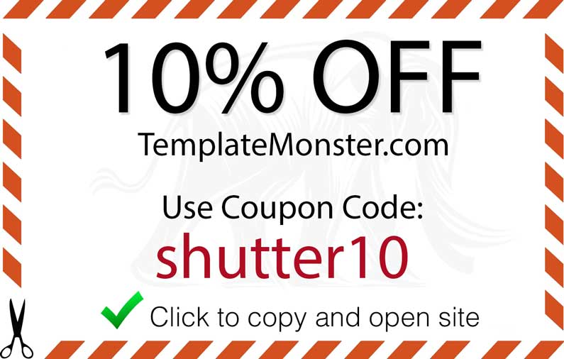 Template Monster Promo Code  Shutter Muse