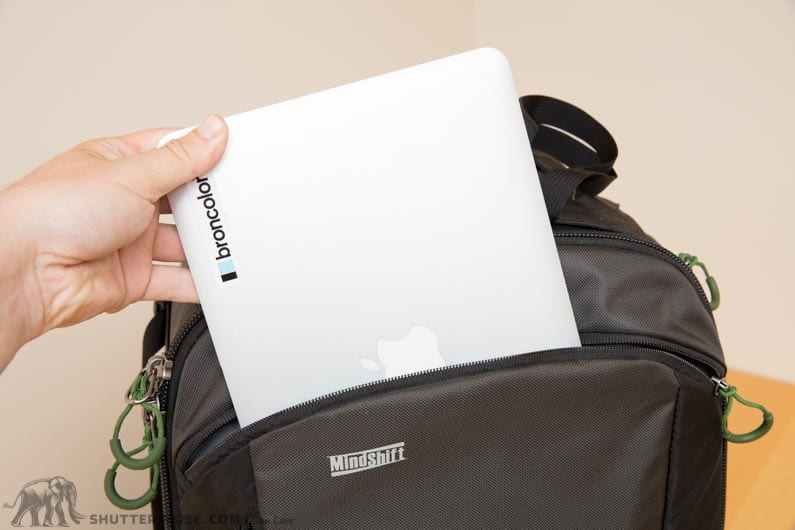 laptop pocket on firstlight backpack