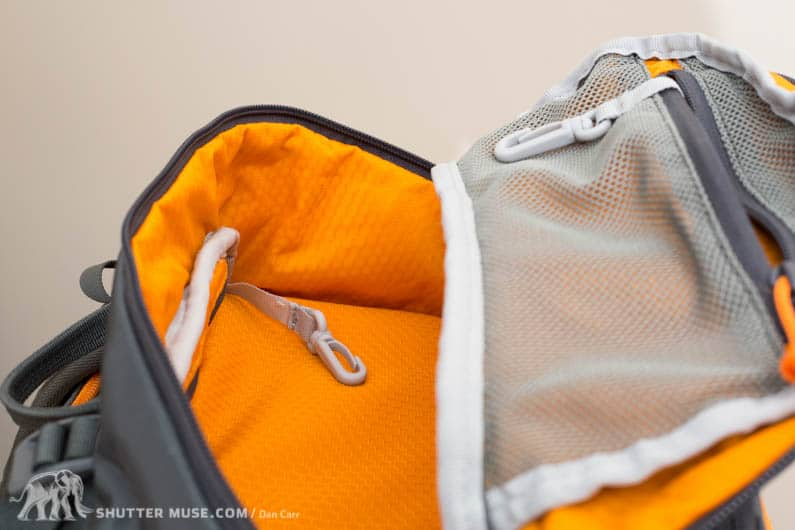 lowepro whistler top pocket