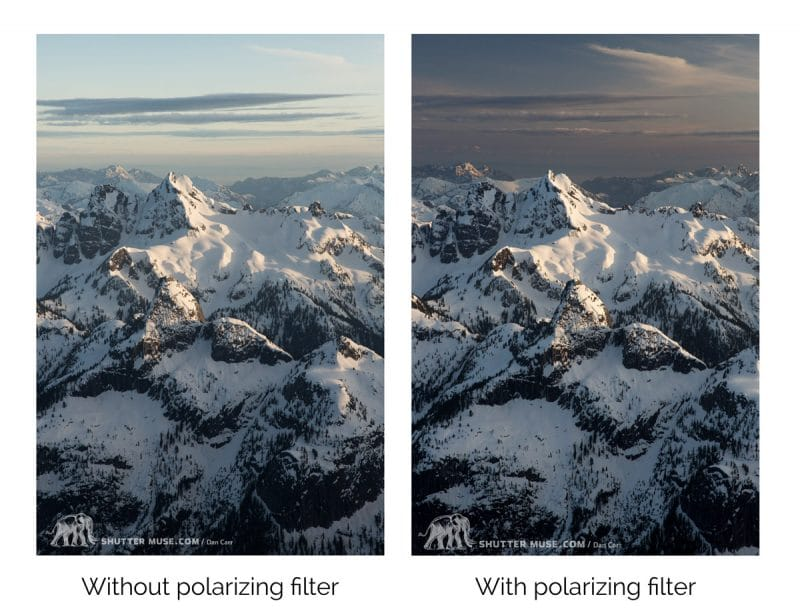 effects of a polarizing filter