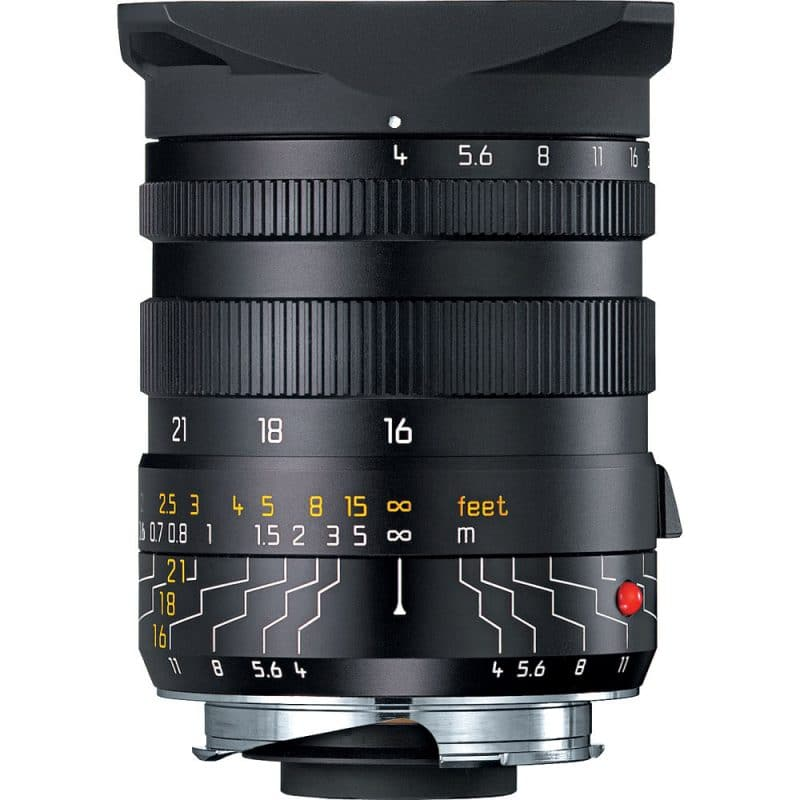Tri-Elmar-M 16-18-21mm f/4 , uniquely offering three focal lengths in one lens.