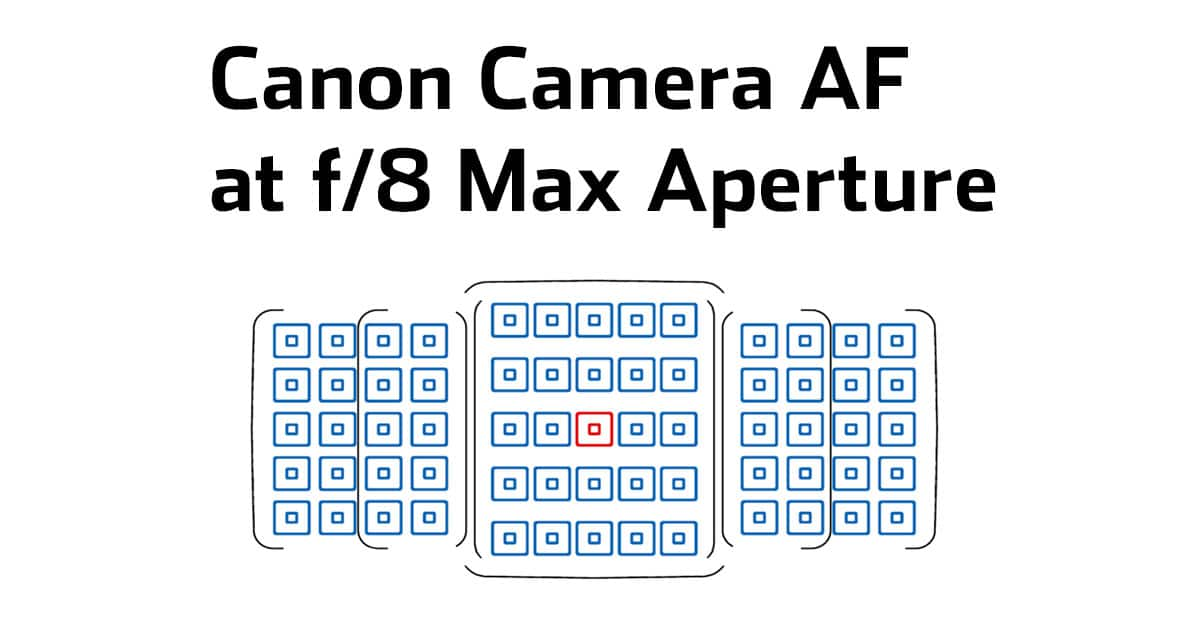 Which Canon Cameras Maintain Autofocus with Extenders at f/8 Max