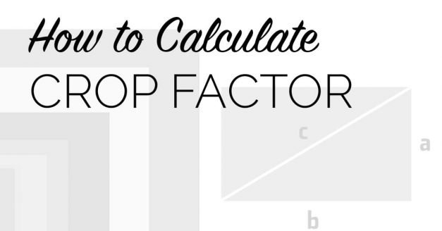 How to Calculate a Camera's Crop Factor