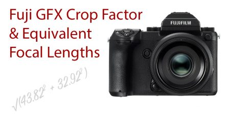 Fujifilm GFX Crop Factor and GF Lens 35mm Full Frame Equivalent Focal Lengths