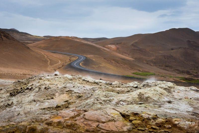 Iceland ring road through Námafjall