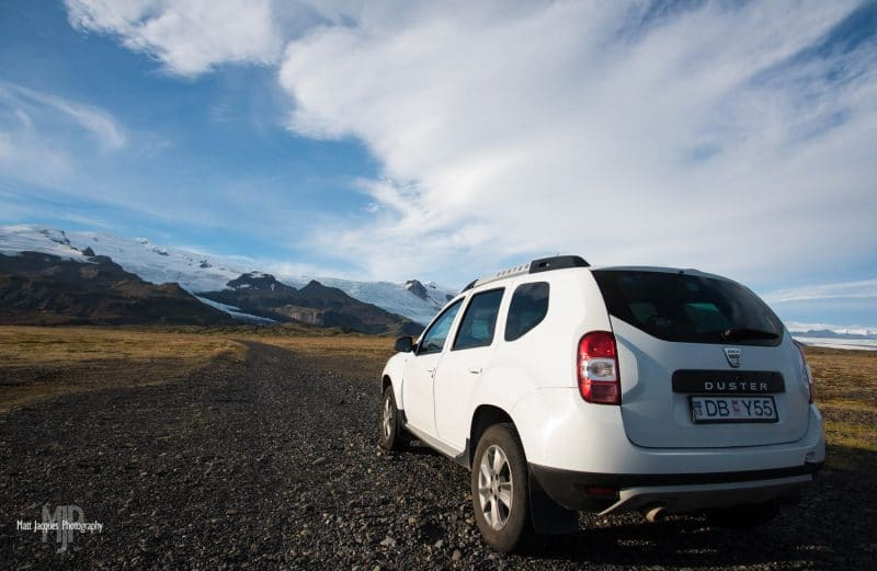 4x4 vehicle in Iceland