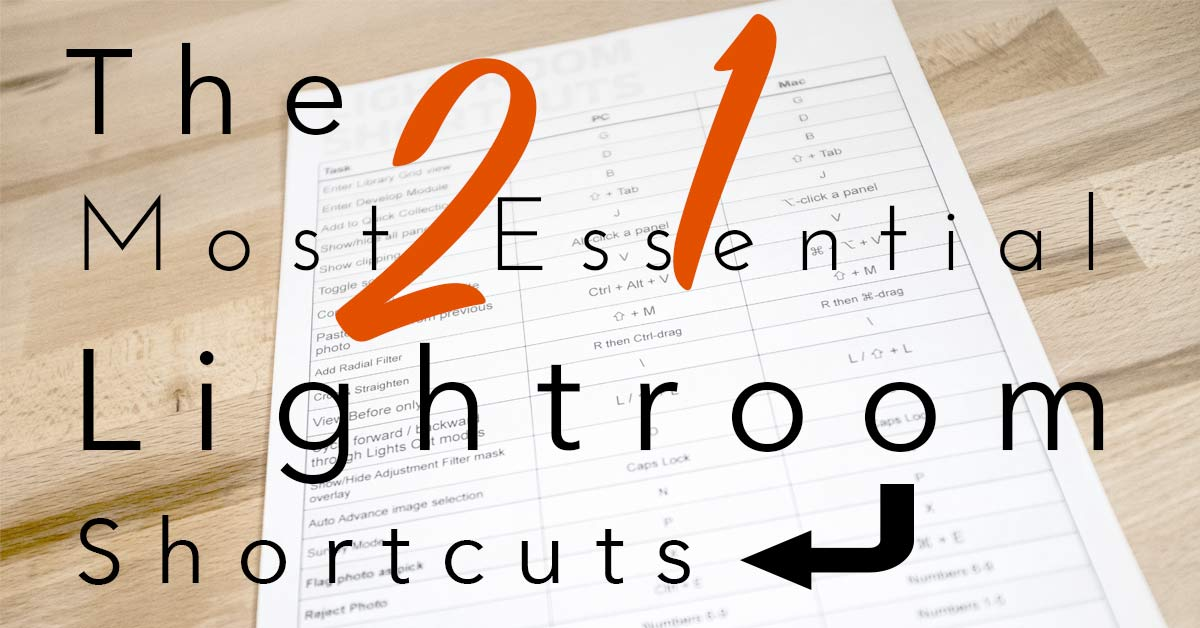 21 Essential Adobe Lightroom Classic Shortcuts – Free Download