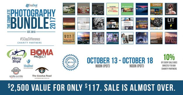 THE COMPLETE PHOTOGRAPHY BUNDLE IS BACK! SAVE 96% (FOR A FEW DAYS)