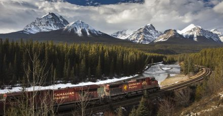 Photographing Morant's Curve in Banff National Park