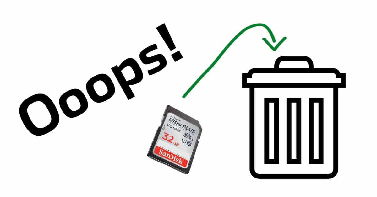 How to Recover Deleted Photos From Your Camera's Memory Card