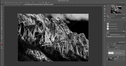 how to create a signature watermark in photoshop