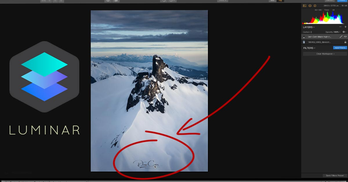 How to Watermark Your Photos in Luminar