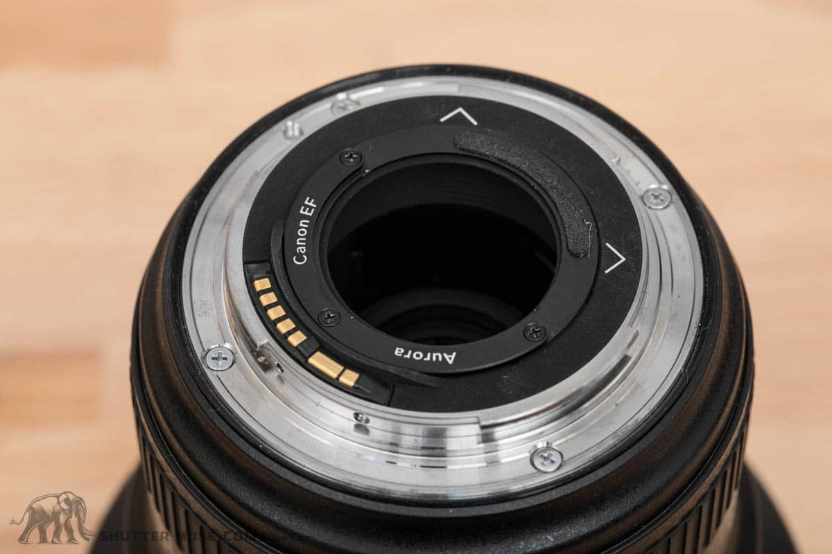 The Problem With Aurora Aperture Nd Filters For Canon 11 24mm Lee Double Slotted Lens Hood Rear Filter Holder In Place