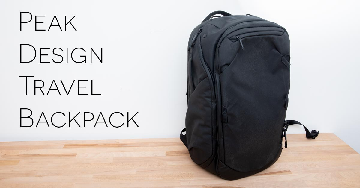 Review  Peak Design 45L Travel Backpack + Travel Line Accessories 9a09e6a79d