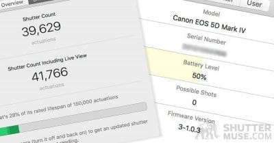 Review: ShutterCheck – How To Find a Canon Camera's Shutter Count