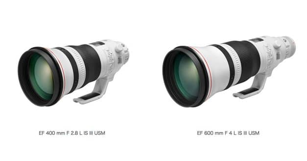 Canon Launches New 400mm f/2.8 III and 600mm f/4 III Super Telephoto Lenses With Huge Weight Savings