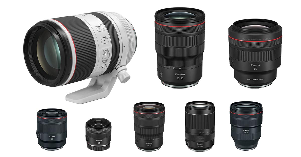 A Complete List Of Canon Rf Lenses And Their Specifications 2020