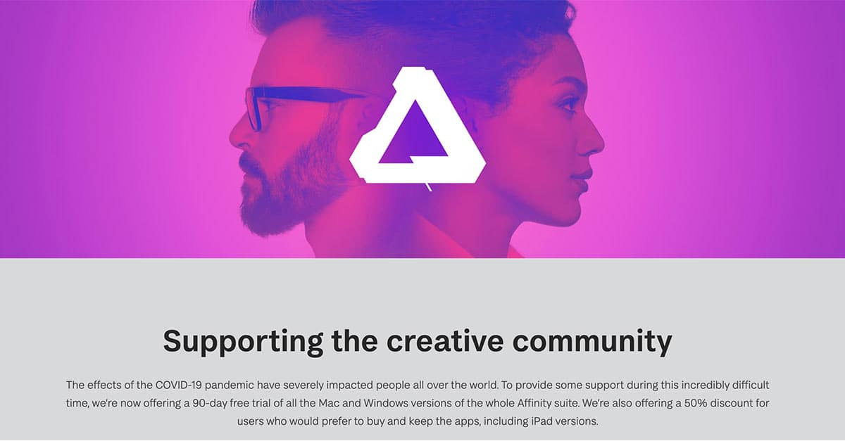 Affinity Photo is 50% Off For Now [COVID-19]