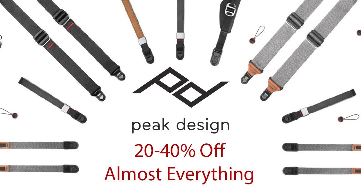 Ends Today: HUGE Peak Design Sale – 20-40% Off