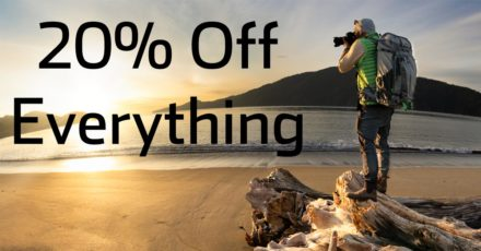 Save 20% On All Think Tank and MindShift Camera Bags