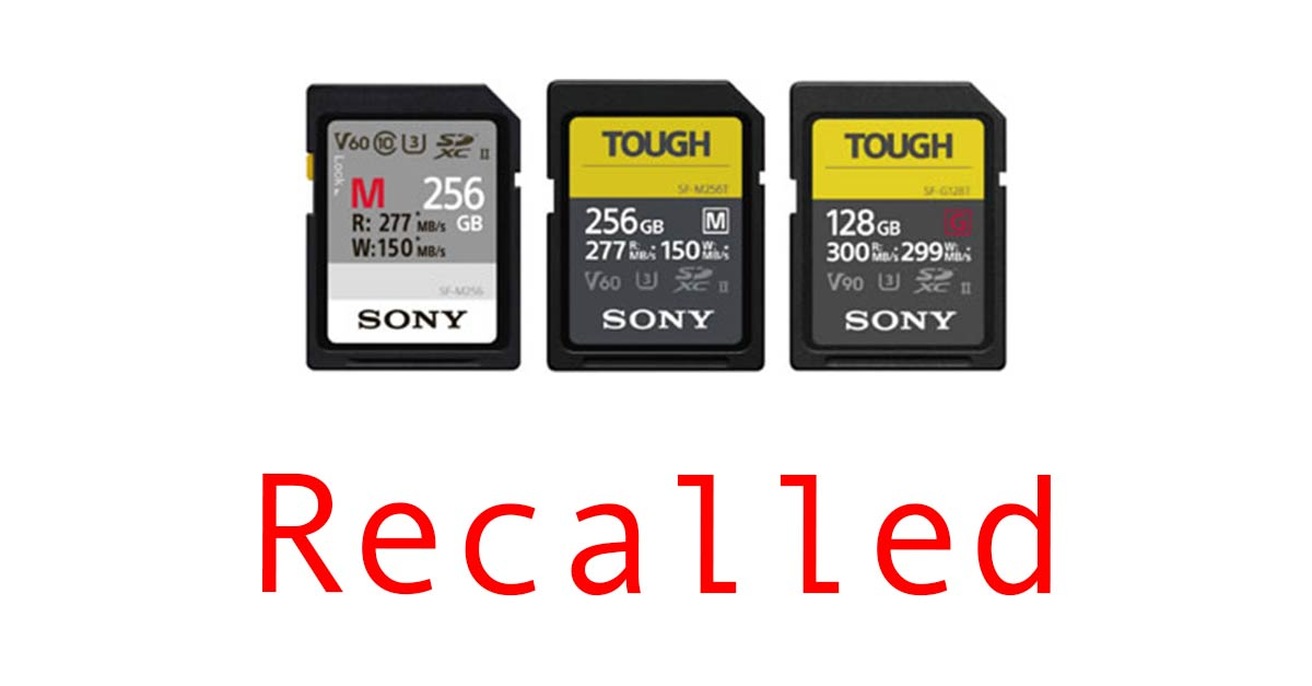 Sony SD Card Recall Notice – All You Need to Know