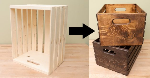 "Turning Dollar Store Wooden Boxes Into ""Old"" Print Sales Boxes"