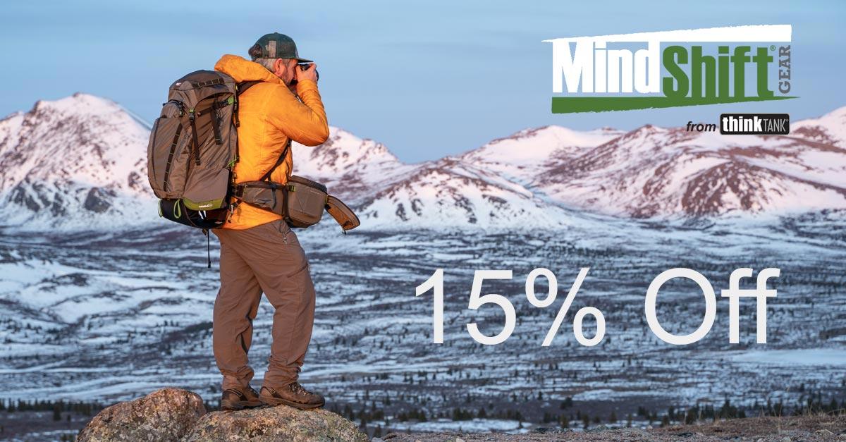 Save 15% On MindShift Gear