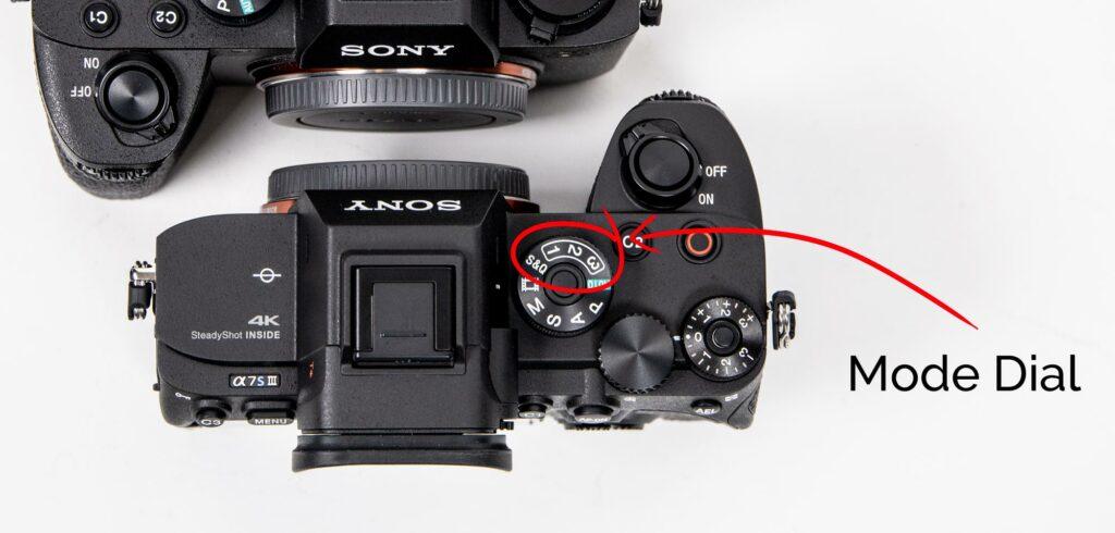 sony mirrorless camera mode dial