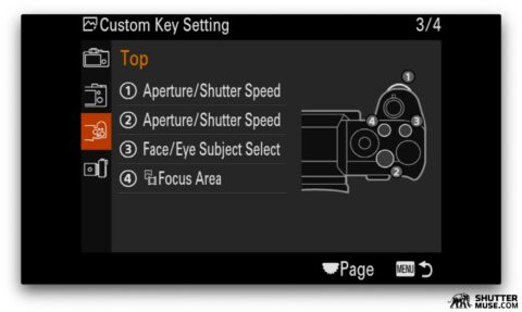 sony camera customization